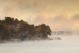 Lake Hamilton  Autumn Fog at Dawn  Hot Springs  Arkansas  USA