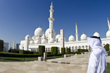 Man in White Kandura at Sheikh Zayed Grand Mosque  Abu Dhabi  UAE