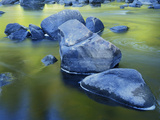 Boulders and Reflection  Little Salmon River  Idaho  USA