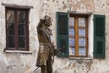 Statue of Francois Gaffori  Place Gaffori  Corte  Corsica  France