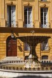 Place D' Albertas Fountain Aix-En-Provence  France