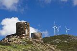 Windmills  Genoese Tower  Belvedere Du Moulin Martei  Corsica  France