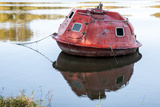 Submersible in Belle River  Atchafalaya Basin  Louisiana  USA