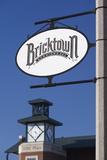 Entertainment District Sign  Bricktown  Oklahoma City  Oklahoma  USA