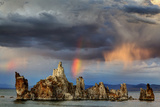 Rainbow and Storm Clouds over the Lake  Mono Lake  California  USA