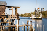Shrimp Boat  Cocodrie  Terrebonne Parish  Louisiana  USA