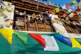 Prayer Flags in Downtown Alchi  Ladakh  India