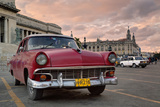 1950's Era Car Parked on Street in Havana Cuba