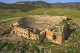 The Amphitheater in Pamukkale (Hierapolis)  Denizli  Turkey
