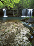 Twin Falls  Richland Creek  Ozark National Forest Arkansas  USA