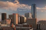 City Skyline with Devon Tower at Dusk  Oklahoma City  Oklahoma  USA
