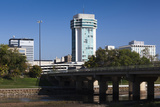 Skyline by the Arkansas River  Wichita  Kansas  USA