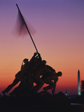 Iwo Jima Memorial at Sunset  Washington DC  USA