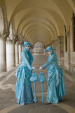 Elaborate Costumes for Carnival Festival  Venice  Italy