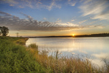 Sunrise over Wetlands at Arrowwood NWR  North Dakota  USA