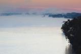 Arkansas River  Autumn Fog at Dawn  Little Rock  Arkansas  USA