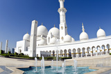 Fountains at Sheikh Zayed Grand Mosque  Abu Dhabi  UAE