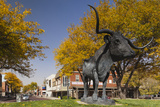 Statue of the Steer El Capitan  Dodge City  Kansas  USA