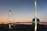 Bob Kerrey Pedestrian Bridge  Missouri River  Omaha  Nebraska  USA