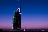 Sunset at the Burj Al Arab  Dubai  United Arab Emirates