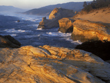 Sandstone Coastline  Cape Kiwanda State Natural Area  Oregon  USA