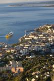 Elevated City View at Dawn  Bastia  Corsica  France