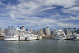 City Skyline at Cruise Ship Waterfront  New York  New York  USA