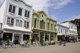 Historic Downtown Streets of Mackinac  Michigan  USA