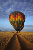 Launching Hot Air Balloons  Namib Desert  Near Sesriem  Namibia