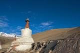 Chortens with Red Spires at Kurzok Village  Ladakh  India