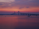 The Newport Bridge at Sunset  Newport  Rhode Island  USA