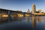 Third Avenue Bridge from Mississippi River at Dawn