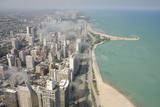 Lake Michigan and Downtown Chicago  Illinois  USA