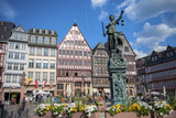 Old City Center Market  Fountain  Frankfurt  Hessen  Germany
