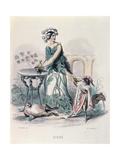 The Hemlock  from 'Les Fleurs Animees'  Engraved by Charles Goeffroy (1819-82)  1847