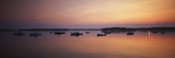 Boats at Dusk in Biddeford Pool  Maine  USA