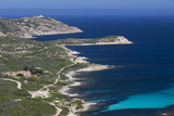 Elevated View of Punta Revellata Lighthouse  Calvi  Corsica  France