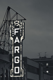 Fargo Theater Sign  Fargo  North Dakota  USA