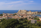 Elevated View of City  Ile De La Pietra  Ile Rousse  Corsica  France