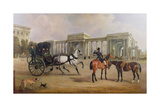 Mr Massey Stanley with Cabriolet and Hacks at Hyde Park Corner  1833