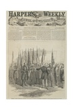 General Custer Presenting Captured Battle Flags at the War Department  Washington  Front Page of…