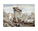 The Forum Romanum  Rome  C1870