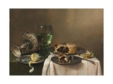 Pronk Still Life  with a Roemer  an Upturned Silver Tazza  a Half-Peeled Lemon on a Pewter Plate …