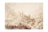 Mountainous Landscape with a Castle  C1589