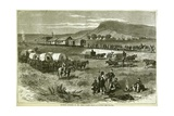 Railroad Building on the Great Plains  from 'Harper's Weekly'  17th July 1875