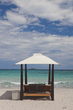 Beach Lounge Chairs  Porto Vecchio  Corsica  France