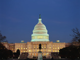 United States Capitol Building at Dusk  Washington DC  USA