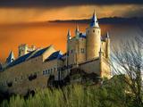 Alcazar Castle at Sunset  Segovia  Spain