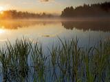 Lapwai Lake at Sunrise  Winchester Lake State Park  Idaho  USA