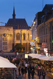 Cafes and Crowds at Dusk  Grand Place  Lille  French Flanders  France
